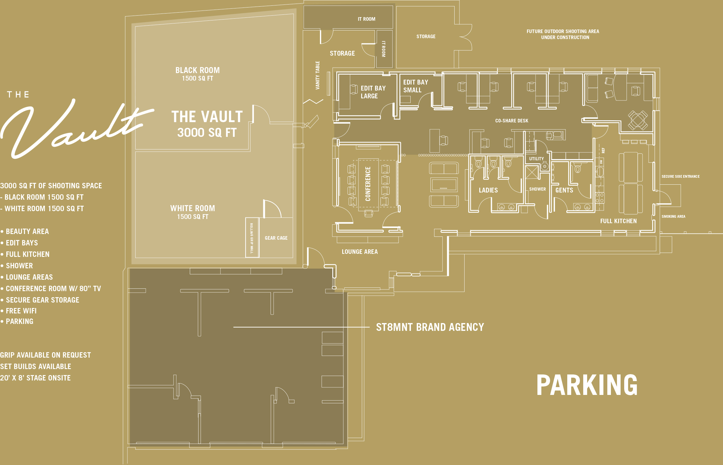 The Vault Nashville Floorplan and Map